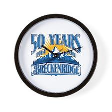 Breckenridge Blue Mountain Wall Clock