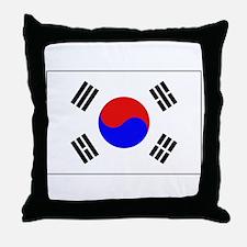 The Flag of (South) Korea Throw Pillow