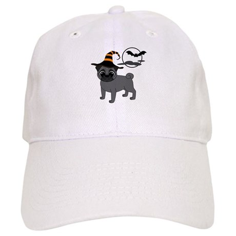 Bewitched Black Pug Cap