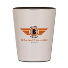 Bidlack Airlines Shot Glass
