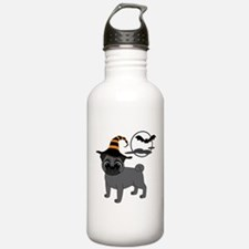 Bewitched Black Pug Water Bottle