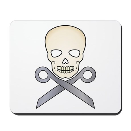 Skull X Scissors Mousepad