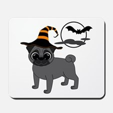 Bewitched Black Pug Mousepad