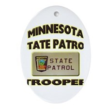Minnesota State Patrol Ornament (Oval)