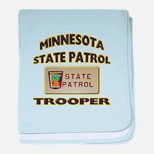 Minnesota State Patrol baby blanket