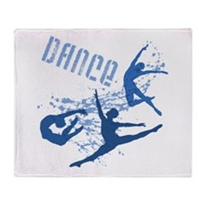 Dance (blue) Throw Blanket