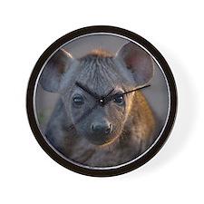 Hyena Baby Portrait Wall Clock