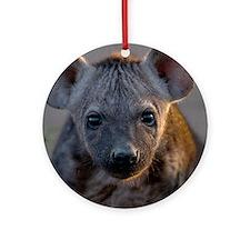 Hyena Baby Portrait Ornament (Round)