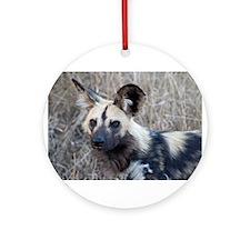 African Wild Dog Ornament (Round)