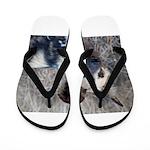 African Wild Dog Flip Flops
