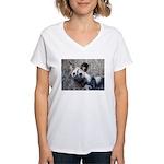 African Wild Dog Women's V-Neck T-Shirt