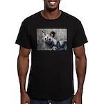 African Wild Dog Men's Fitted T-Shirt (dark)