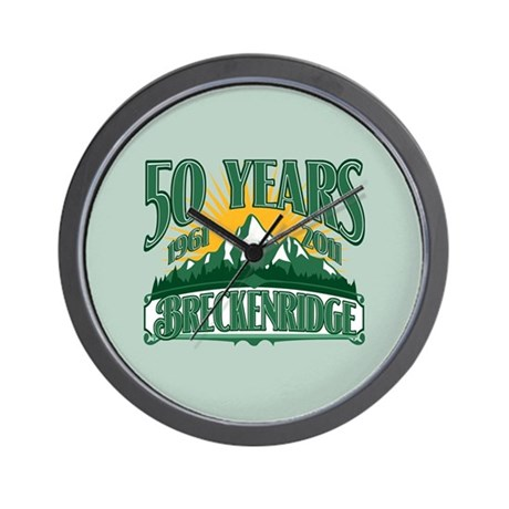 Breckenridge Green Mountain 50th Wall Clock