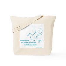 Gandi Peace Tote Bag