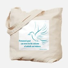 Gandi Peace Tote Bag