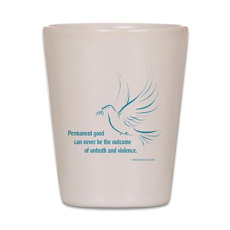Gandi Peace Shot Glass