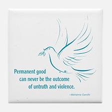 Gandi Peace Tile Coaster