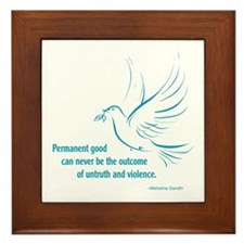 Gandi Peace Framed Tile