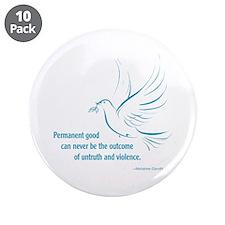 "Gandi Peace 3.5"" Button (10 pack)"