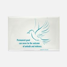 Gandi Peace Rectangle Magnet (10 pack)