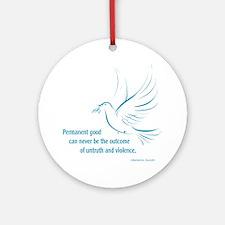 Gandi Peace Ornament (Round)