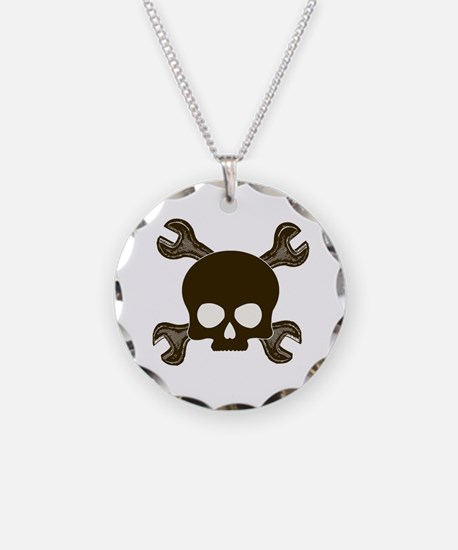 Skull & Cross-Wrenches Necklace