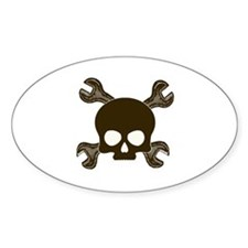 Skull & Cross-Wrenches Decal