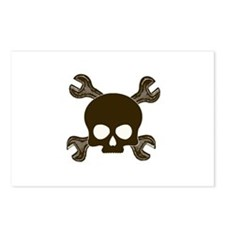 Skull & Cross-Wrenches Postcards (Package of 8)