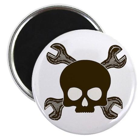 """Skull & Cross-Wrenches 2.25"""" Magnet (10 pack)"""