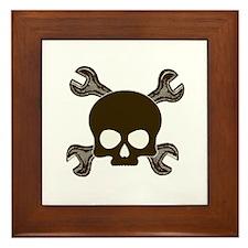 Skull & Cross-Wrenches Framed Tile