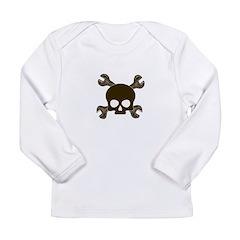 Skull & Cross-Wrenches Long Sleeve Infant T-Shirt