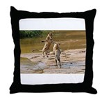 Lions Playing in Water Throw Pillow