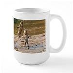 Lions Playing in Water Large Mug