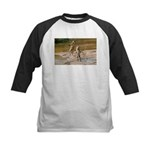 Lions Playing in Water Kids Baseball Jersey