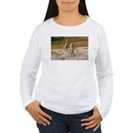 Lions Playing in Water Women's Long Sleeve T-Shirt