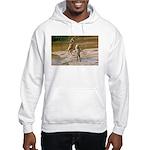 Lions Playing in Water Hooded Sweatshirt