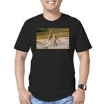 Lions Playing in Water Men's Fitted T-Shirt (dark)