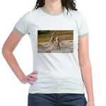 Lions Playing in Water Jr. Ringer T-Shirt