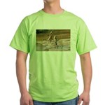 Lions Playing in Water Green T-Shirt