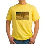 Lions Playing in Water Yellow T-Shirt