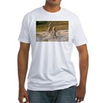 Lions Playing in Water Fitted T-Shirt