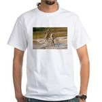 Lions Playing in Water White T-Shirt