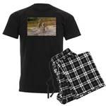 Lions Playing in Water Men's Dark Pajamas
