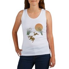 Moon, japanese pampas grass and r Women's Tank Top