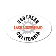 Lake Arrowhead California 22x14 Oval Wall Peel