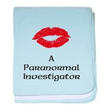 Kiss A Paranormal Investigato baby blanket