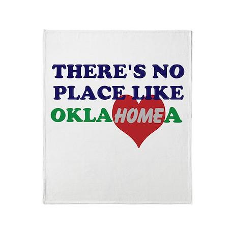 No Place Like Oklahoma Throw Blanket