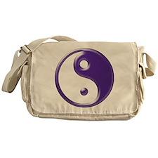 Purple Yin Yang Messenger Bag