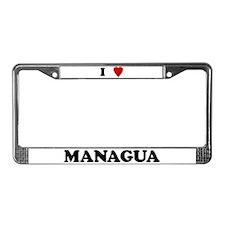 I Love Managua License Plate Frame