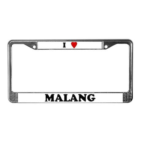 I Love Malang License Plate Frame